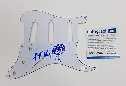 Def Leppard Rick Allen Autographed Signed Guitar Pickguard ACOA