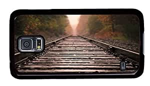Hipster Samsung Galaxy S5 Cases amazing Railroad Closeup PC Black for Samsung S5