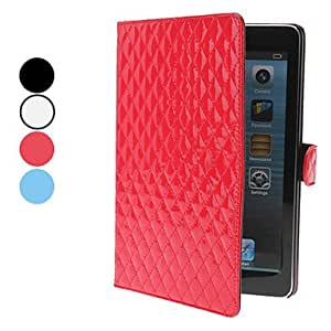 Rhombus Design PU Leather Case with Stand for iPad mini (Assorted Colors) , White