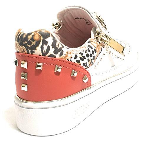 Donna Arancio Bianco Sneakers Lacci Guess Scarpe Senza Basse Fl5be2ele12 1qfwTZ