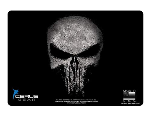EDOG The Reaper Distressed CERUS Gear Angel of Death Promat Heavy Duty Pistol Cleaning 12x17 Padded Gun-Work Surface Protector Mat Solvent & Oil Resistant & Bonus from EDOG