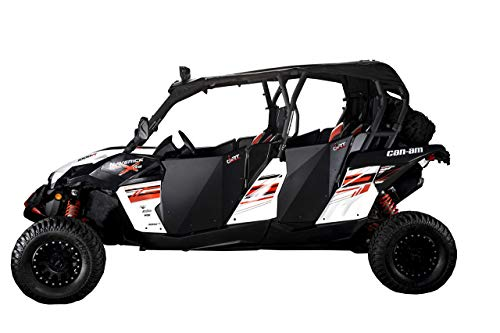 CANAM MAVERICK MAX/COMMANDER MAX DOORS. 4 SUICIDE DOORS SET WITH SLAM LATCH FEATURE BY DIRT SPECIALTIES