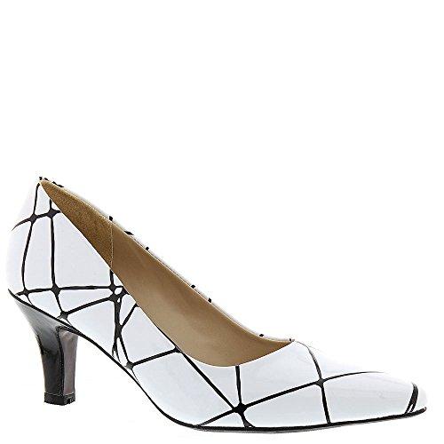 Chaussures À Ava White Geometric Femmes Print Talons Beacon 5n1qXIx