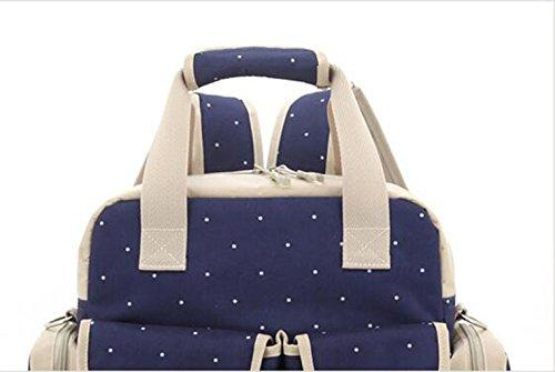 Salir para ser el paquete producido, bolso de la momia, bolso de hombro, solo hombro de gran capacidad con tres bolsos, bolso de la madre, bolso del bebé de la madre ( Color : Khaki ) Rosa Roja