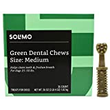 Amazon Brand – Solimo Green Dental Chews Dog Treats, Medium Size, 36 Count For Sale