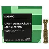 Amazon Brand - Solimo Green Dental Chews Dog Treats, Medium Size, 36 Count