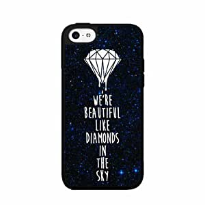 Cute painting Beautiful Like Diamonds Plastic Phone Case Back Cover iPhone 5 5s BY EPPOR