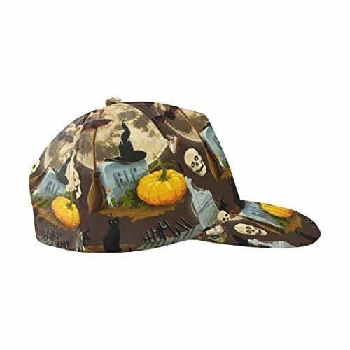 Halloween Hats Clipart (InterestPrint Clip Art for Halloween Celebration Hats Adjustable Snapback Baseball)