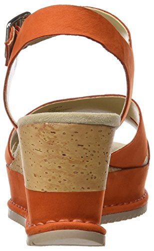 Akilah Nubuck Orange Heels Clarks Eden Sandals Orange WoMen Wedge White TwWSz5q