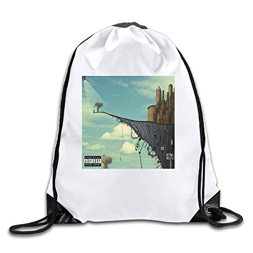 General Admission Lightweight Drawstring Gift Bags Backpack White Size One Size