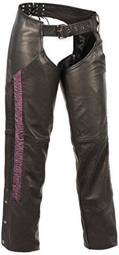 SHAF Milwaukee Leather Women's Lightweight Chap with Crin...