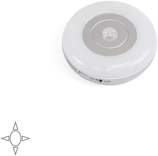 Emuca - Aplique LED recargable con sensor de movimiento, lámpara LED recargable con USB: Amazon.es: Iluminación