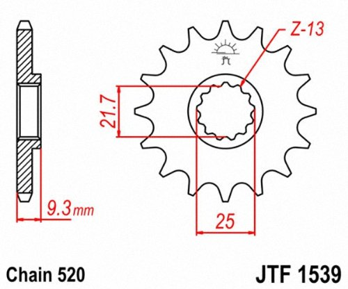 JT Sprockets 14T Steel Front Sprocket