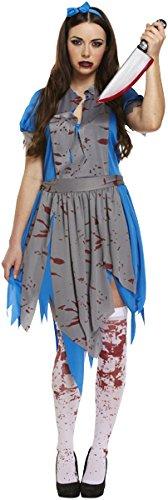 NEW HALLOWEEN ADULT HORROR LIKE ALICE IN WONDERLAND FANCYDRESS COSTUME (Halloween Fancydress)