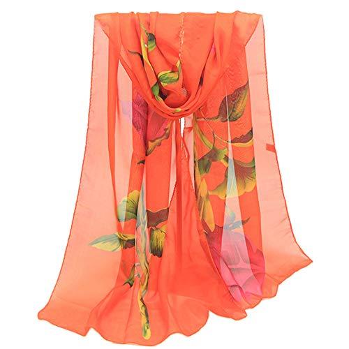 Butterflies Scarf Dresser (Fashion Scarfs for Women Hot Sale,DEATU Ladies Rose Long Soft Wrap Chiffon Scarf Shawl(Orange))