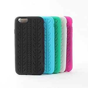 JAJAY Tie Grain Silicone Soft Back Case for iPhone 6 (Assoted Colors) , Blue