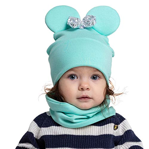 SweetHat Baby Hat and Scarf 2pcs Set 6-12 Months,12-18 Months,Cotton Children Baby-Girl Baby-boy Toddler Girl Boy Mother&Baby