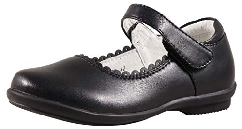- SKOEX Girls Mary Jane Shoes Uniform School Dress Flats with Black US Size 11M