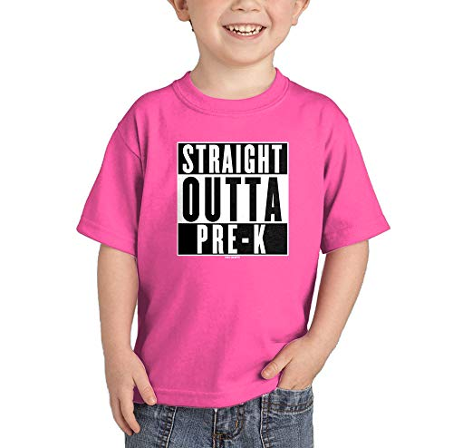 Straight Outta Pre - K - Pre School Infant/Toddler Cotton Jersey T-Shirt (Pink, 5T) ()