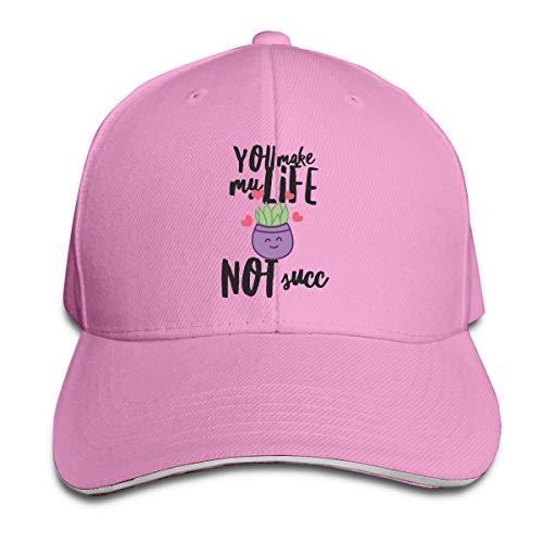- Shenigon Succulent Fun Cap Unisex Low Profile Cotton Hat Baseball Caps Pink