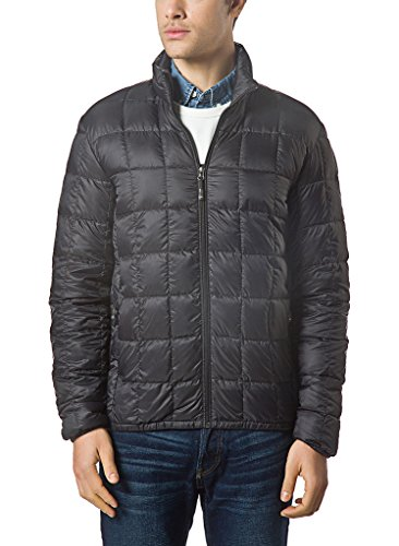 XPOSURZONE Men Packable Down Quilted Puffer Jacket Black Lightweight Puffer Coat M