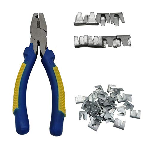 bit Chicken Poultry Cage Buckle Clips Animals Pets Building tool Buckle Clip Plier Hand Tool Kit (Clip & Plier) ()