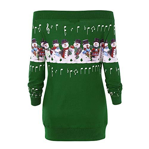 Magiyard Arrtez l Imprim Wapiti Taille Femmes Shirt Joyeux Fausser Cerf Vert Sweat Vous Cou No Plus rtYCrwq
