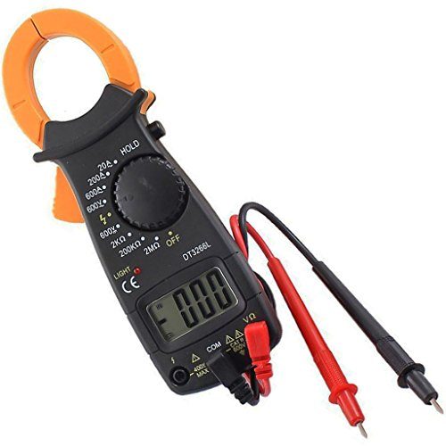 Trendbox Digital LCD Automatic AC/DC Electronic Tester Portable Handheld Clamp Volt Meter Multimeter 600V DT3266L Current Resistance Voltage