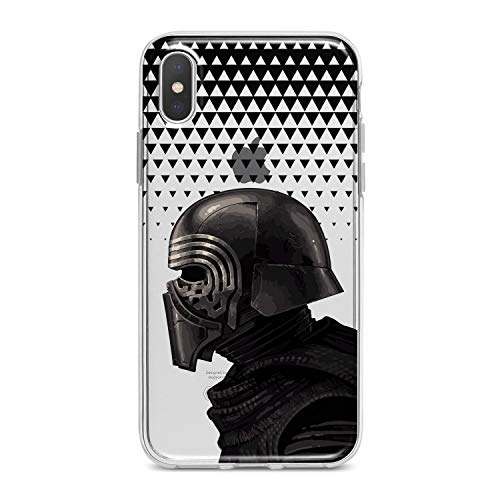 Lex Altern TPU Case for iPhone Apple Xs Max Xr 10 X 8+ 7 6s 6 SE 5s 5 Kylo Ren Print Smooth Movie Cover Clear Star Wars Design Gift Galaxy Slim fit Soft Galactic Lightweight Black Flexible Gray Men ()
