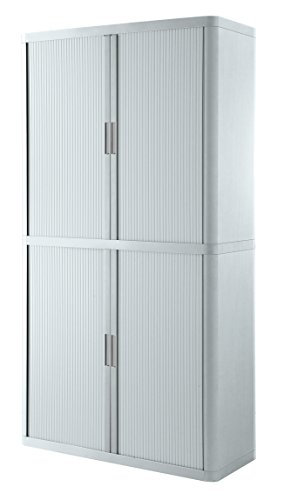 (Paperflow E2CT0006500061 Easyoffice Storage Cabinet with Four Shelves, White)