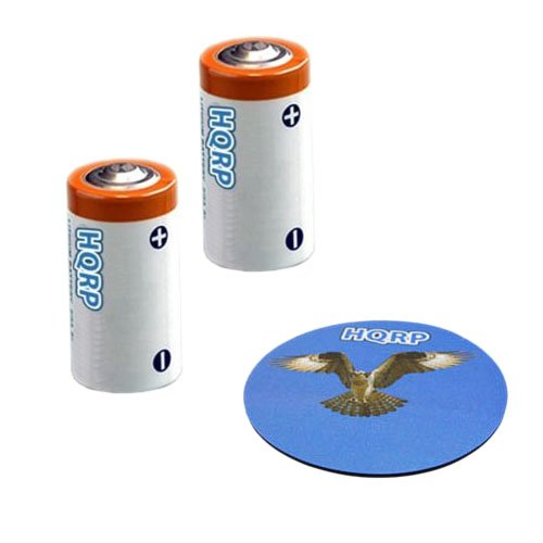 Tri Tronics Bark Limiter - HQRP 2-Pack 3V Batteries for Tri-Tronics 1181300 fits Bark Limiter G3, Bark Limiter XS, Dog Sport Junior G3 + HQRP Coaster