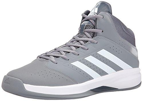 Adidas Performance Mens Isolamento 2 Basket Scarpa Grigio / Bianco / Grigio
