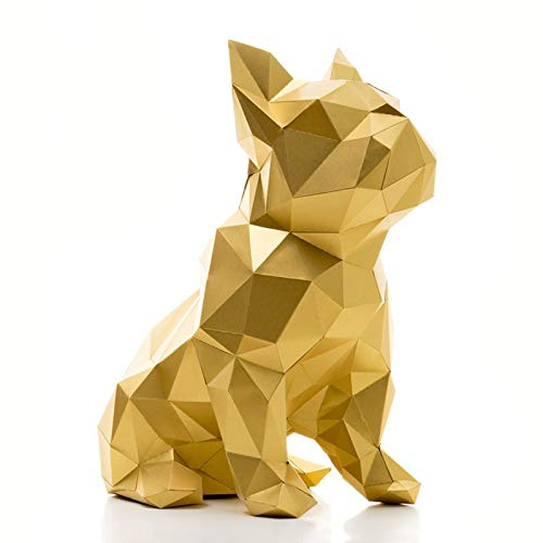 Paperraz 3D Dog Sculpture Animal Building Puzzle Low Poly PaperCraft Kit for Adults & Teens - NO Scissors Needed