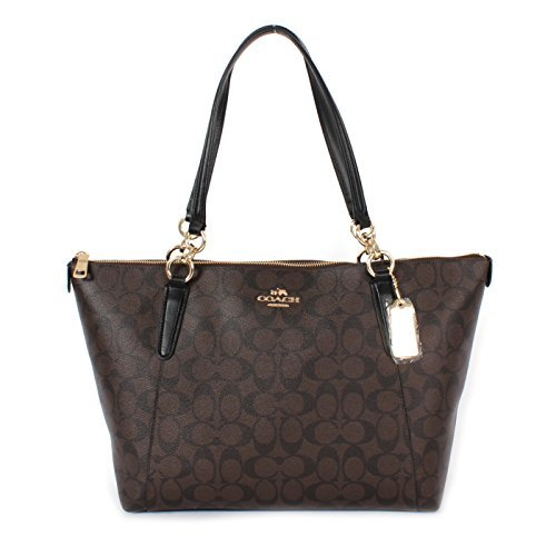 Coach Ava Tote in Signature Brown/Black/Gold F58318 Coach Handbag Outlet