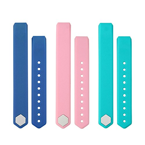 Large Product Image of LETSCOM Replacement Straps for ID115HR or ID115, 3 Pack(Blue+Pink+Green), Not for ID115PLusHR/ID115U