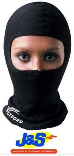 OXFORD ULTRA THIN MOTORCYCLE BALACLAVA MOTORBIKE UNDER HELMET THERMAL WINTER BLACK J&S