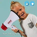 Pyle Megaphone Speaker PA Bullhorn - Built-in Siren - 20 Watt Adjustable Volume Control & 800 Yard Range - Ideal for Football, Soccer, Baseball, Cheerleading Fans, Coaches & Safety Drills - PMP20