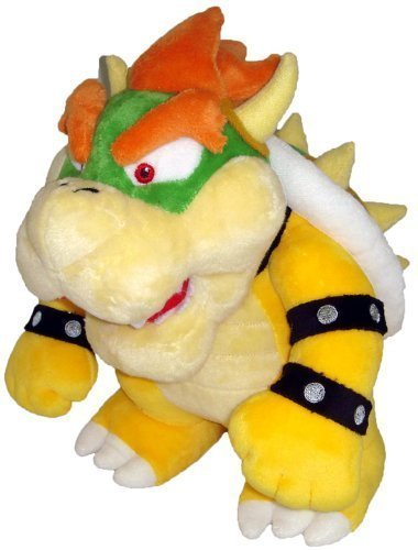 TinTek 10'' Super Mario Brothers Standing King Bowser Soft Stuffed Animal Plush Doll Figure Toy 10 Inches by TinTek