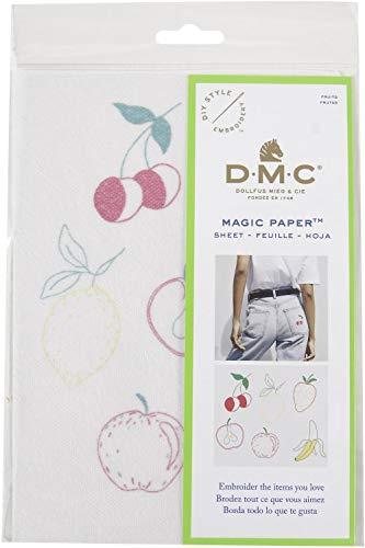 DMC Magic Paper Pre-Printed Needlework Designs-Fruit - Embroidery