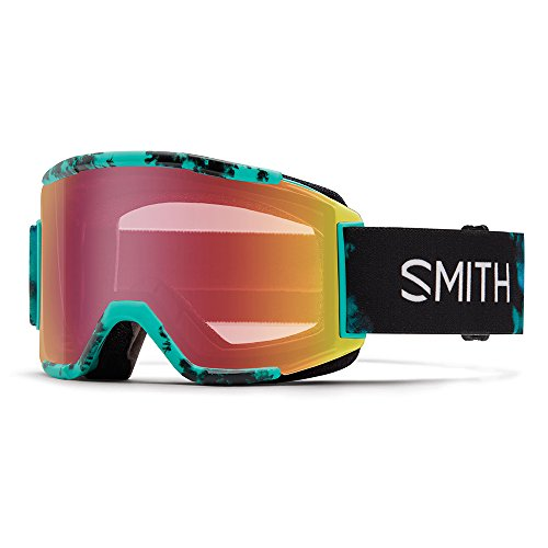 SMITH Squad Masque de Ski Mixte, Chrom Opal Unexpected/Red Sensor Mirror