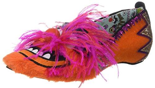 Womens Uregelmessig Valg Muppets Fest Dyr Flate Sko (oransje / Rosa)