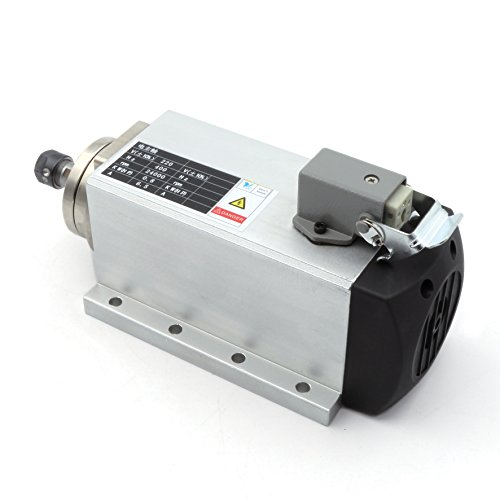 Square 0.8KW/800W CNC Air-cooled Spindle Motor ER11 24000rpm 220V/AC 6.5A 400Hz Engraving Router Milling Grinding Cutting Machines 【 Suitable For Medium Or Large Processing 】 by RATTMMOTOR (Image #1)