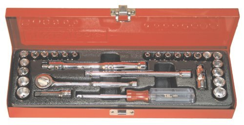 28Pc. 1/4''Dr. 6 Point SAE/Metric Socket Set by T&E Tools (Image #1)