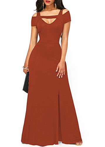 orange long dresses wedding - 7