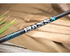 BASS X CASTING RODS feature: Premium quality SCII graphite. Hard aluminum-oxide guides with black frames. Fuji ECS reel seat with black hood on casting models. Fuji DPS reel seat with black hoods on spinning models. Split-grip/premium-grade c...