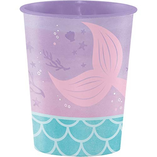 Iridescent Mermaid Party 16 oz Favor Cups, 8 ct