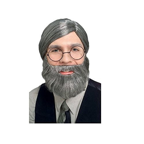 2047 (One Size, Gray) Costume Beard and Mustache