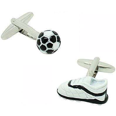 MasGemelos - Gemelos Pelota y Balón de Fútbol 3D Cufflinks: Amazon ...