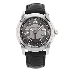Best Epic Trends 41ysbYLoEnL._SS300_ Blancpain L-Evolution Black Dial Stainless Steel Black Alligator Leather Mens Watch 8805-1134-53B