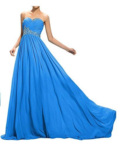 Gruen Perlen Blau Lang Royal Ballkleider La Abendkleider Elegant Kleider Pailletten Abschlussballkleider mia Braut Mit Jugendweihe wq47Ut6